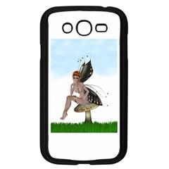 Fairy Sitting On A Mushroom Samsung Galaxy Grand DUOS I9082 Case (Black)