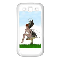 Fairy Sitting On A Mushroom Samsung Galaxy S3 Back Case (White)