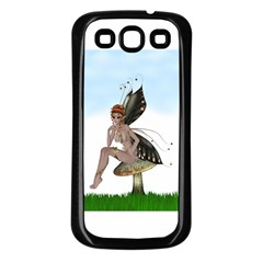Fairy Sitting On A Mushroom Samsung Galaxy S3 Back Case (Black)