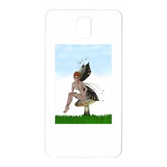 Fairy Sitting On A Mushroom Samsung Galaxy Note 3 Hardshell Back Case