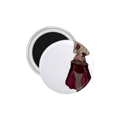 Steampunk Style Girl Wearing Red Dress 1.75  Button Magnet