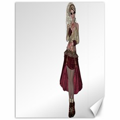 Steampunk Style Girl Wearing Red Dress Canvas 12  x 16  (Unframed)
