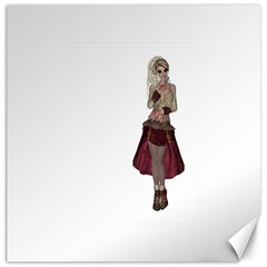 Steampunk Style Girl Wearing Red Dress Canvas 20  x 20  (Unframed)