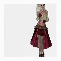 Steampunk Style Girl Wearing Red Dress Glasses Cloth (Medium, Two Sided)