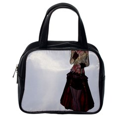 Steampunk Style Girl Wearing Red Dress Classic Handbag (One Side)