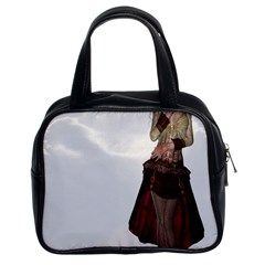 Steampunk Style Girl Wearing Red Dress Classic Handbag (two Sides)