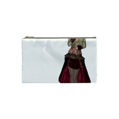 Steampunk Style Girl Wearing Red Dress Cosmetic Bag (small)