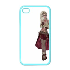 Steampunk Style Girl Wearing Red Dress Apple iPhone 4 Case (Color)