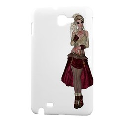 Steampunk Style Girl Wearing Red Dress Samsung Galaxy Note 1 Hardshell Case