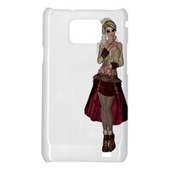 Steampunk Style Girl Wearing Red Dress Samsung Galaxy S II i9100 Hardshell Case