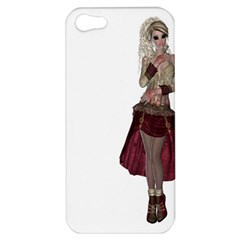 Steampunk Style Girl Wearing Red Dress Apple Iphone 5 Hardshell Case