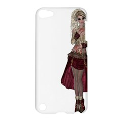 Steampunk Style Girl Wearing Red Dress Apple Ipod Touch 5 Hardshell Case