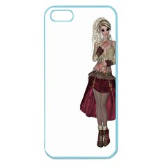 Steampunk Style Girl Wearing Red Dress Apple Seamless iPhone 5 Case (Color)