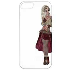 Steampunk Style Girl Wearing Red Dress Apple iPhone 5 Classic Hardshell Case