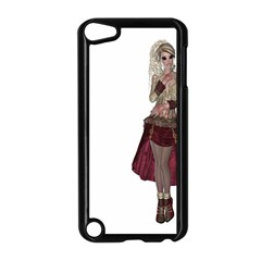 Steampunk Style Girl Wearing Red Dress Apple Ipod Touch 5 Case (black)