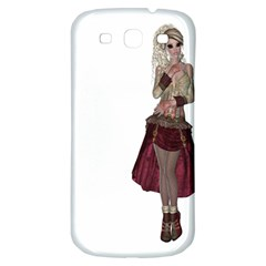 Steampunk Style Girl Wearing Red Dress Samsung Galaxy S3 S III Classic Hardshell Back Case