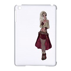 Steampunk Style Girl Wearing Red Dress Apple iPad Mini Hardshell Case (Compatible with Smart Cover)
