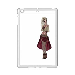 Steampunk Style Girl Wearing Red Dress Apple Ipad Mini 2 Case (white)