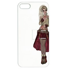Steampunk Style Girl Wearing Red Dress Apple iPhone 5 Hardshell Case with Stand