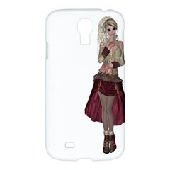 Steampunk Style Girl Wearing Red Dress Samsung Galaxy S4 I9500/I9505 Hardshell Case