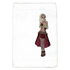 Steampunk Style Girl Wearing Red Dress Removable Flap Cover (large)