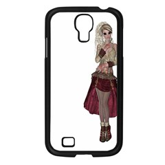Steampunk Style Girl Wearing Red Dress Samsung Galaxy S4 I9500/ I9505 Case (Black)