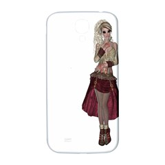 Steampunk Style Girl Wearing Red Dress Samsung Galaxy S4 I9500/I9505  Hardshell Back Case