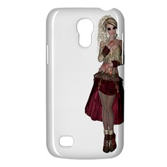 Steampunk Style Girl Wearing Red Dress Samsung Galaxy S4 Mini (GT-I9190) Hardshell Case