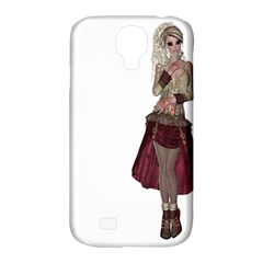Steampunk Style Girl Wearing Red Dress Samsung Galaxy S4 Classic Hardshell Case (pc+silicone)