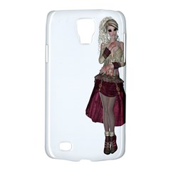 Steampunk Style Girl Wearing Red Dress Samsung Galaxy S4 Active (i9295) Hardshell Case
