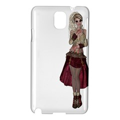 Steampunk Style Girl Wearing Red Dress Samsung Galaxy Note 3 N9005 Hardshell Case