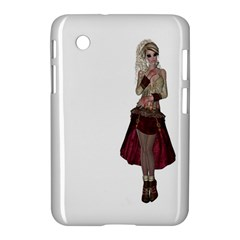 Steampunk Style Girl Wearing Red Dress Samsung Galaxy Tab 2 (7 ) P3100 Hardshell Case