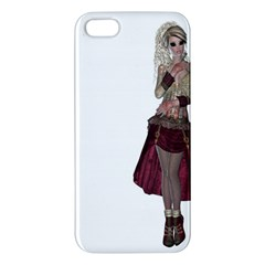 Steampunk Style Girl Wearing Red Dress Iphone 5s Premium Hardshell Case