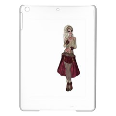 Steampunk Style Girl Wearing Red Dress Apple iPad Air Hardshell Case