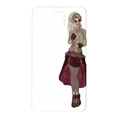 Steampunk Style Girl Wearing Red Dress Samsung Galaxy Note 3 Hardshell Back Case