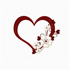 Red Love Heart With Flowers Romantic Valentine Birthday Canvas 12  x 16  (Unframed)