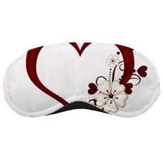 Red Love Heart With Flowers Romantic Valentine Birthday Sleeping Mask