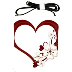Red Love Heart With Flowers Romantic Valentine Birthday Shoulder Sling Bag