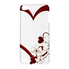 Red Love Heart With Flowers Romantic Valentine Birthday Apple iPod Touch 5 Hardshell Case
