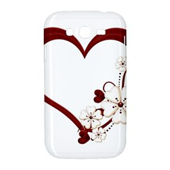 Red Love Heart With Flowers Romantic Valentine Birthday Samsung Galaxy Grand DUOS I9082 Hardshell Case