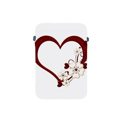 Red Love Heart With Flowers Romantic Valentine Birthday Apple Ipad Mini Protective Sleeve