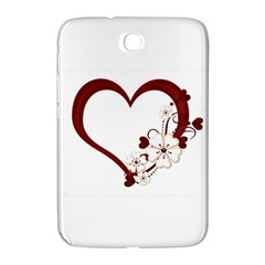 Red Love Heart With Flowers Romantic Valentine Birthday Samsung Galaxy Note 8.0 N5100 Hardshell Case