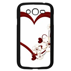 Red Love Heart With Flowers Romantic Valentine Birthday Samsung Galaxy Grand DUOS I9082 Case (Black)