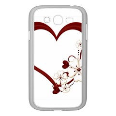 Red Love Heart With Flowers Romantic Valentine Birthday Samsung Galaxy Grand Duos I9082 Case (white)