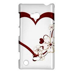 Red Love Heart With Flowers Romantic Valentine Birthday Nokia Lumia 720 Hardshell Case