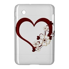 Red Love Heart With Flowers Romantic Valentine Birthday Samsung Galaxy Tab 2 (7 ) P3100 Hardshell Case