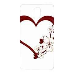 Red Love Heart With Flowers Romantic Valentine Birthday Samsung Galaxy Note 3 Hardshell Back Case