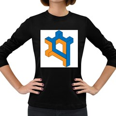 Find your way Women s Long Sleeve T-shirt (Dark Colored)