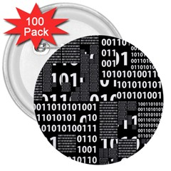 Beauty of Binary 3  Button (100 pack)