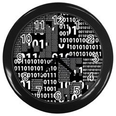 Beauty of Binary Wall Clock (Black)